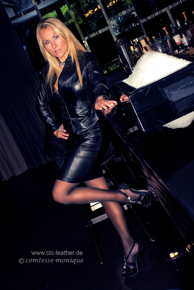 Blondes in leather or latex