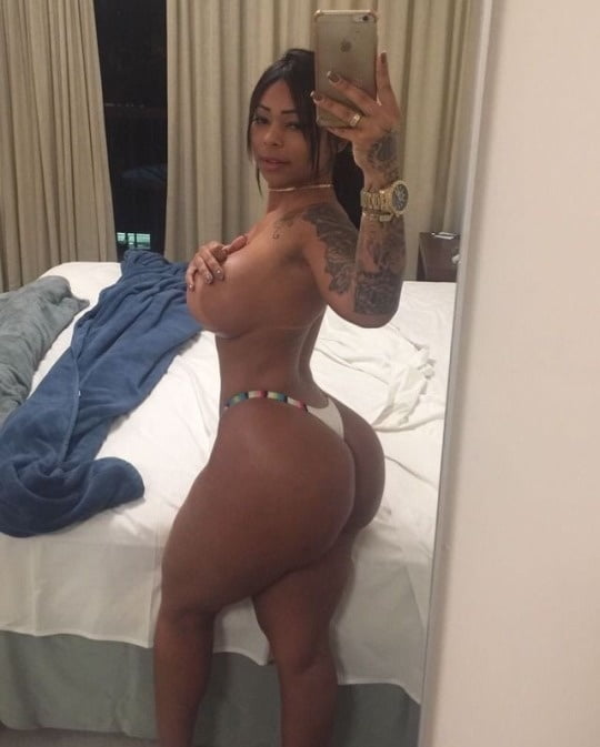 Top-Half Naked Latina Selfies